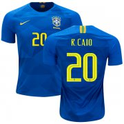 Wholesale Cheap Brazil #20 R.Caio Away Kid Soccer Country Jersey