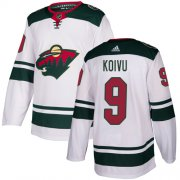 Wholesale Cheap Adidas Wild #9 Mikko Koivu White Road Authentic Stitched Youth NHL Jersey