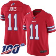 Wholesale Cheap Nike Bills #11 Zay Jones Red Men's Stitched NFL Limited Rush 100th Season Jersey