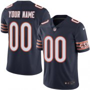 Wholesale Cheap Nike Chicago Bears Customized Navy Blue Team Color Stitched Vapor Untouchable Limited Men's NFL Jersey