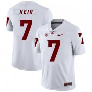 Wholesale Cheap Washington State Cougars 7 Mel Hein White College Football Jersey