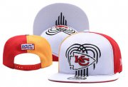 Wholesale Cheap Chiefs Fresh Logo White Red 2019 Draft Adjustable Hat YD