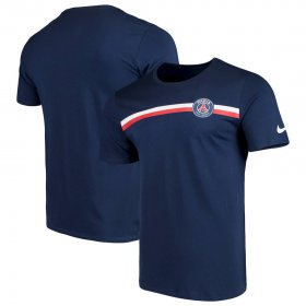 Wholesale Cheap Paris Saint-Germain Nike Logo Crest T-Shirt Navy