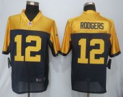 Wholesale Nike Packers #12 Aaron Rodgers Navy Blue Alternate Men's Stitched NFL New Limited Jersey