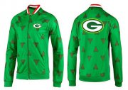 Wholesale Cheap NFL Green Bay Packers Team Logo Jacket Green_2
