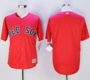 Wholesale Cheap Red Sox Blank Red New Cool Base Stitched MLB Jersey