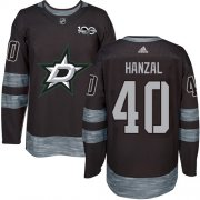 Cheap Adidas Stars #40 Martin Hanzal Black 1917-2017 100th Anniversary Stitched NHL Jersey
