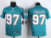 Wholesale Nike Dolphins #97 Jordan Phillips Aqua Green Team Color Youth Stitched NFL New Elite Jersey