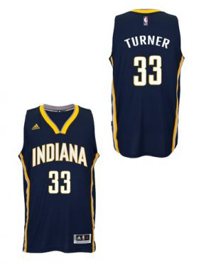 Wholesale Cheap Indiana Pacers #33Myles Turner 2014-15 New Swingman Road Jersey Navy