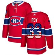 Wholesale Cheap Adidas Canadiens #33 Patrick Roy Red Home Authentic USA Flag Stitched NHL Jersey