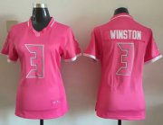 Wholesale Cheap Nike Buccaneers #3 Jameis Winston Pink Women's Stitched NFL Elite Bubble Gum Jersey