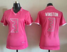 Wholesale Cheap Nike Buccaneers #3 Jameis Winston Pink Women\'s Stitched NFL Elite Bubble Gum Jersey