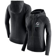 Wholesale Cheap Miami Dolphins Nike Women's Gym Vintage Full-Zip Hoodie Black