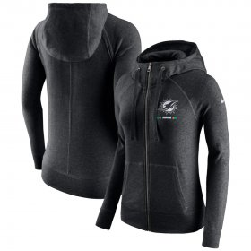 Wholesale Cheap Carolina Panthers G-III Sports by Carl Banks Post Route Full-Zip Hoodie Charcoal