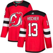 Wholesale Cheap Adidas Devils #13 Nico Hischier Red Home Authentic Stitched NHL Jersey