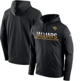 Wholesale Cheap Men\'s Jacksonville Jaguars Nike Black Sideline Circuit Pullover Performance Hoodie