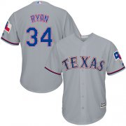 Wholesale Cheap Rangers #34 Nolan Ryan Grey Cool Base Stitched Youth MLB Jersey