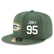 Wholesale Cheap Green Bay Packers #95 Datone Jones Snapback Cap NFL Player Green with White Number Stitched Hat