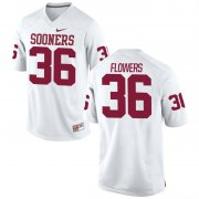 Wholesale Cheap Men's Nike Dimitri Flowers Oklahoma Sooners #36 Limited White Alumni Football Jersey