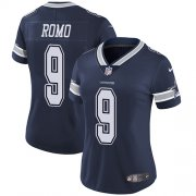Wholesale Cheap Nike Cowboys #9 Tony Romo Navy Blue Team Color Women's Stitched NFL Vapor Untouchable Limited Jersey
