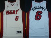Wholesale Cheap Miami Heat #6 KingJames Revolution 30 Swingman White Jersey