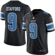 Wholesale Cheap Nike Lions #9 Matthew Stafford Black Youth Stitched NFL Limited Rush Jersey