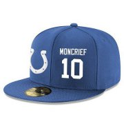 Wholesale Cheap Indianapolis Colts #10 Donte Moncrief Snapback Cap NFL Player Royal Blue with White Number Stitched Hat