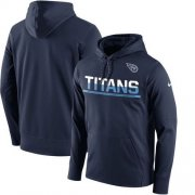Wholesale Cheap Men's Tennessee Titans Nike Navy Sideline Circuit Pullover Performance Hoodie
