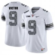 Wholesale Cheap Ohio State Buckeyes 9 Binjimen Victor White Shadow College Football Jersey