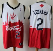 Wholesale Cheap Raptors #2 Kawhi Leonard White Red Basketball Swingman City Edition Jersey