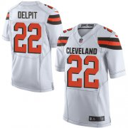 Wholesale Cheap Nike Browns #22 Grant Delpit White Men's Stitched NFL New Elite Jersey