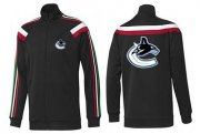 Wholesale NHL Vancouver Canucks Zip Jackets Black-2