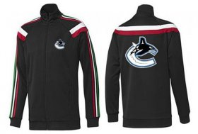 Wholesale Cheap NHL Vancouver Canucks Zip Jackets Black-2