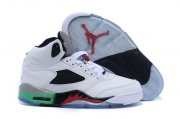 Wholesale Cheap Air Jordan 5 Retro Shoes White/red-green-black