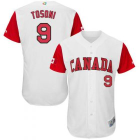 Wholesale Cheap Team Canada #9 Rene Tosoni White 2017 World MLB Classic Authentic Stitched MLB Jersey