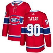 Wholesale Cheap Adidas Canadiens #90 Tomas Tatar Red Home Authentic Stitched Youth NHL Jersey
