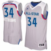 Wholesale Cheap Men's Eastern Conference Milwaukee Bucks #34 Giannis Antetokounmpo adidas Gray 2017 NBA All-Star Game Swingman Jersey