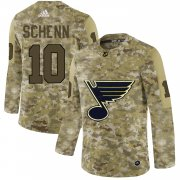 Wholesale Cheap Adidas Blues #10 Brayden Schenn Camo Authentic Stitched NHL Jersey