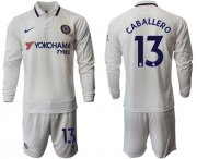 Wholesale Cheap Chelsea #13 Caballero Away Long Sleeves Soccer Club Jersey