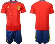 Wholesale Cheap Spain Blank Home Soccer Country Jersey