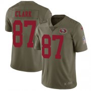 Wholesale Cheap Nike 49ers #87 Dwight Clark Olive Men's Stitched NFL Limited 2017 Salute to Service Jersey