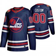 Wholesale Cheap Winnipeg Jets Custom Men's 2019-20 Heritage Classic Wha Navy Stitched NHL Jersey