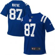 Wholesale Cheap Toddler Nike Colts #87 Reggie Wayne Royal Blue Team Color Stitched NFL Elite Jersey
