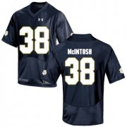 Wholesale Cheap Notre Dame Fighting Irish 38 Deon McIntosh Navy College Football Jersey