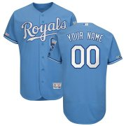 Wholesale Cheap Kansas City Royals Majestic Alternate Authentic Collection Flex Base Custom Jersey Light Blue