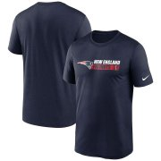 Wholesale Cheap New England Patriots Nike Fan Gear Team Conference Legend Performance T-Shirt Navy