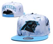 Wholesale Cheap Panthers Team Logo Smoke Blue Adjustable Hat TX