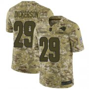 Wholesale Cheap Nike Rams #29 Eric Dickerson Camo Youth Stitched NFL Limited 2018 Salute to Service Jersey