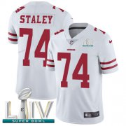 Wholesale Cheap Nike 49ers #74 Joe Staley White Super Bowl LIV 2020 Youth Stitched NFL Vapor Untouchable Limited Jersey