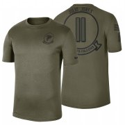 Wholesale Cheap Atlanta Falcons #11 Julio Jones Olive 2019 Salute To Service Sideline NFL T-Shirt